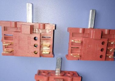 China 5 Position Heater Rotary Switch , 6 Position High Voltage Rotary Switch supplier