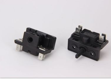 China Mini Oven Selector Switch Pa66 Iron Terminal 16A Black 4 Heat Output supplier