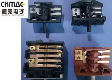 China Copper 4 Pole Rotary Switch , Plastic 3 Way Rotary Switch For Fan / Heater supplier