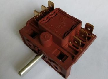 China Rotary Selector Electric Oven Switch For Microwave16A Brass Contacts supplier