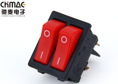 Double Pole Electrical Rocker Switches Waterproof No Light With Bridge
