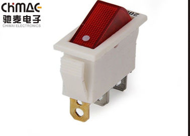 China Copper Terminals Electrical Rocker Switches 34 * 14 Mm Silver Contact Point supplier
