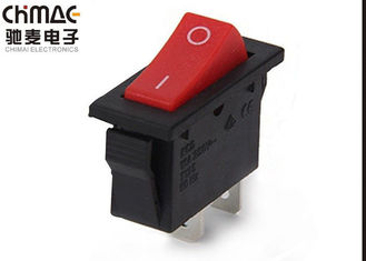 China 6A  / 10A Miniature Colored Rocker Switches KCD2 Selector Red ABS Button supplier