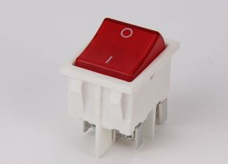 China Dpst 4 Pins Double Electrical Rocker Switches 12A 250VAC Brass Terminal supplier
