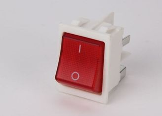 China Long Life White Rocker Switch , 16A  250v Rocker Switch Power Control T85 supplier