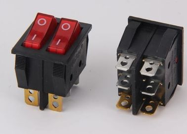 China Push Button Boat Rocker Switch Colored IP66 Double With Lamp CE / ROSH supplier