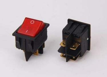 China Led Panel Waterproof Lighted Rocker Switch , On On Miniature Rocker Switch supplier