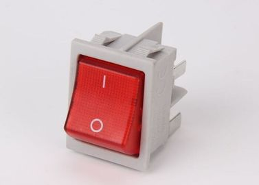 China Gray Boat Kcd2 Rocker Switch 6A 125VAC 10000 Cycles Industrial Dimension 32 * 25 supplier