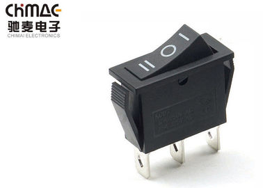 China 1 Way Three Position Push Button Rocker Switch Power Control ON - OFF - ON supplier