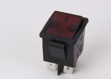12A 250VAC Lamp Rocker Switch , Dpst 4 Pins Water Resistant Rocker Switch