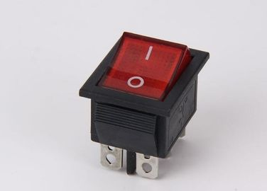China Lamp Push Button Rocker Switch Red Black 6 Pins ON OFF 5A 12V T110 Copper supplier