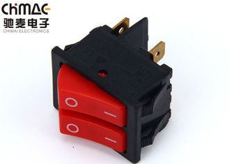 China Brass Terminals Double Pole Rocker Switch , Copper Bridge Push Rocker Switch 220V 10A supplier