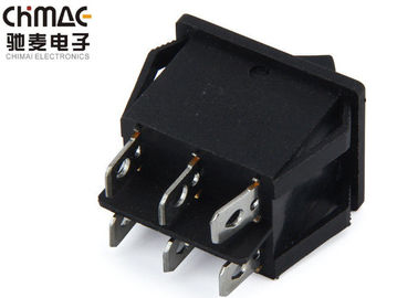China 3 Positions Push Button Rocker Switch 3 Way ON - OFF - ON Pa66 For Mustic Instrument supplier