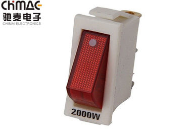 China 2000W / 3000W KCD Rocker Switch White Single Pole 15A Power NEON 3 Pins supplier