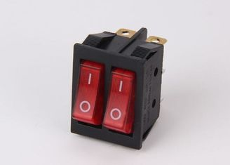 China KCD3 - 2 Series 3 Way Rocker Switch , Neon 6 Pin Rocker Switch Double Pole supplier