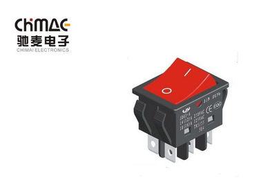 China High Current Industrial Rocker Switch , Rectangular Rocker Switch Amps T85 / 55 supplier