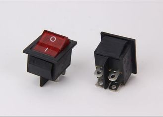 China Lighted Spst Miniature Rocker Switch , 2 Way Locking KCD5 Rocker Switch supplier