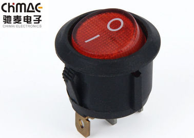 China Electric  Round  Rocker Switch Color Optional 10A Brass With Silver Plated Pins supplier