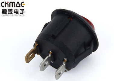 China 6 Pins Lamp Rocker Switch , T85 Rocker Switch ON OFF ON 110 Pass CE 1500VAC / 5S supplier