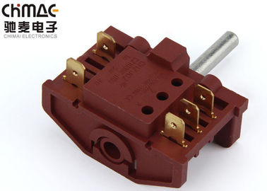 China 12A 250VAC 6 Position Rotary Switch , Sp6t Power Rotary Switch Brass Terminal supplier