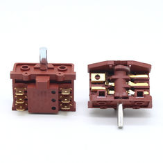 China Knob 6 Pins 2 Position Oven Rotary Switch For Stove 250V 16A Brass Terminal supplier
