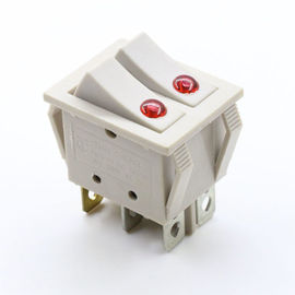 China Double Pole Control 6 Pin Dpdt Rocker Switch , Mushroom Push Button Switch supplier