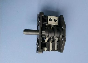 China 2 - 10 Multi Position Rotary Switch , Red / Black Iron Rotary Power Switch factory