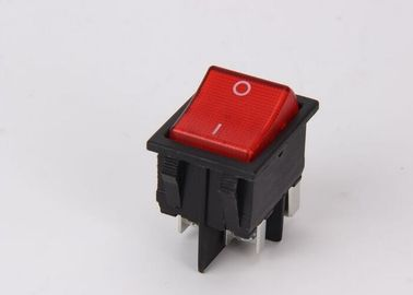 China Push Button KCD Rocker Switch Double Pole Neon PA66 CE / ROSH Certificates factory