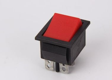 China Wide Paddle Spring Rocker Switch KCD4 Double Pole 16A 125VAC Silver Plating factory