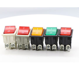 China Dpst On Off Neon Lamp KCD Rocker Switch , 120V Double Throw KCD4 Rocker Switch factory