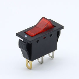 China 3 Pole Illuminated Momentary Rocker Switch 120 Voltage Double Throw factory