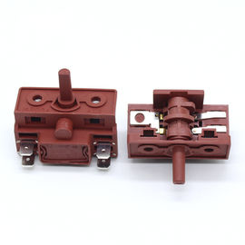 Multi Function Red / Black Rotary Switch Used in Kitchen Appliance Electric Oven