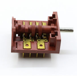 Copper Terminal Mini Rotary Switch , 4 Pole 3 Position Dishwasher Switch