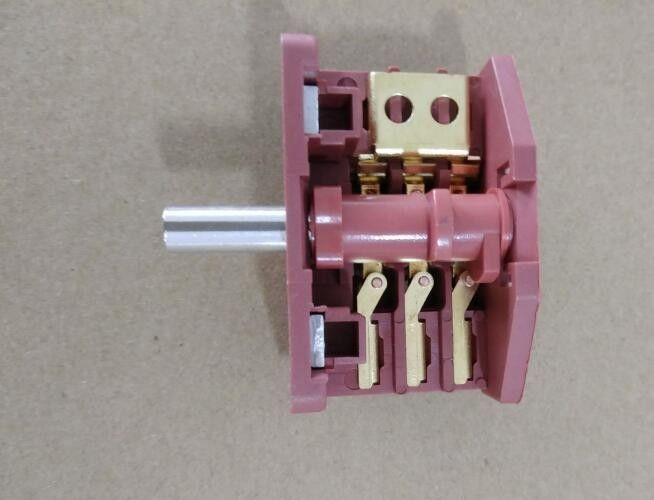 Copper 4 Pole Rotary Switch , Plastic 3 Way Rotary Switch For Fan / Heater
