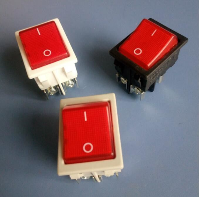 6 Pin Dpdt Boat Rocker Switch On - Off - On Over 100mΩ Insulation Resistance